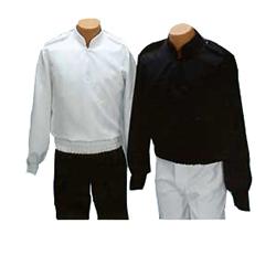 Military Collar-Elastic Waist Blouses