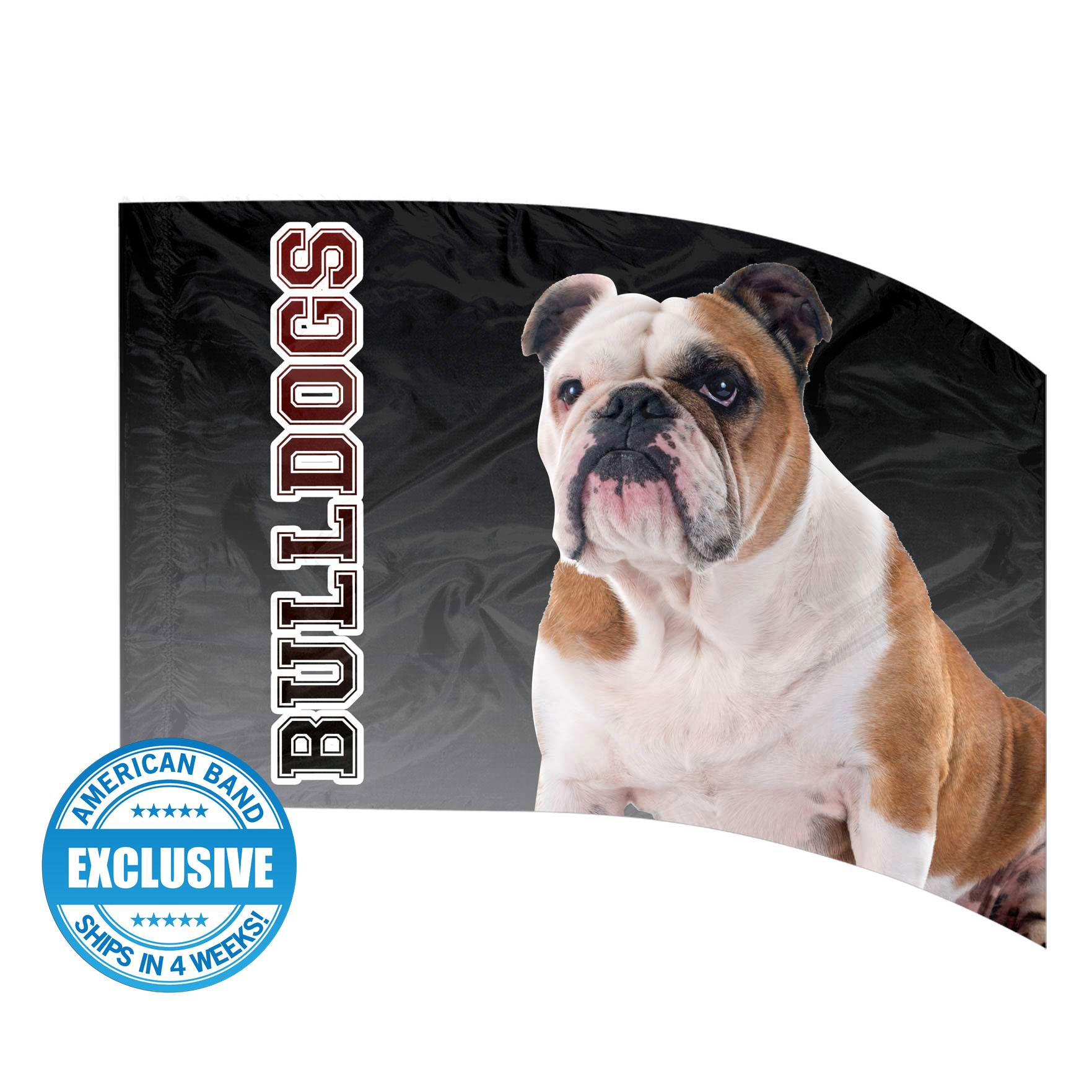 Made-to-Order Digital Mascot Flags - Bulldog