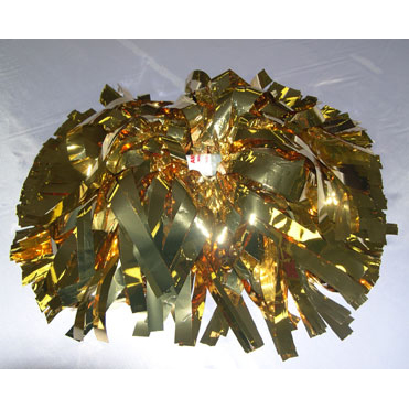 POMS: 8 in. 1000 STRAND GOLD METALLIC WITH BATON HANDLES