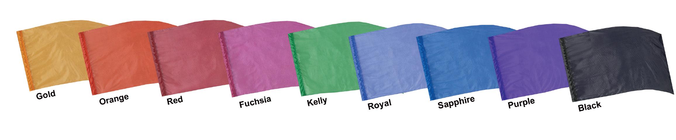 Crystal Clear Lamé Flags