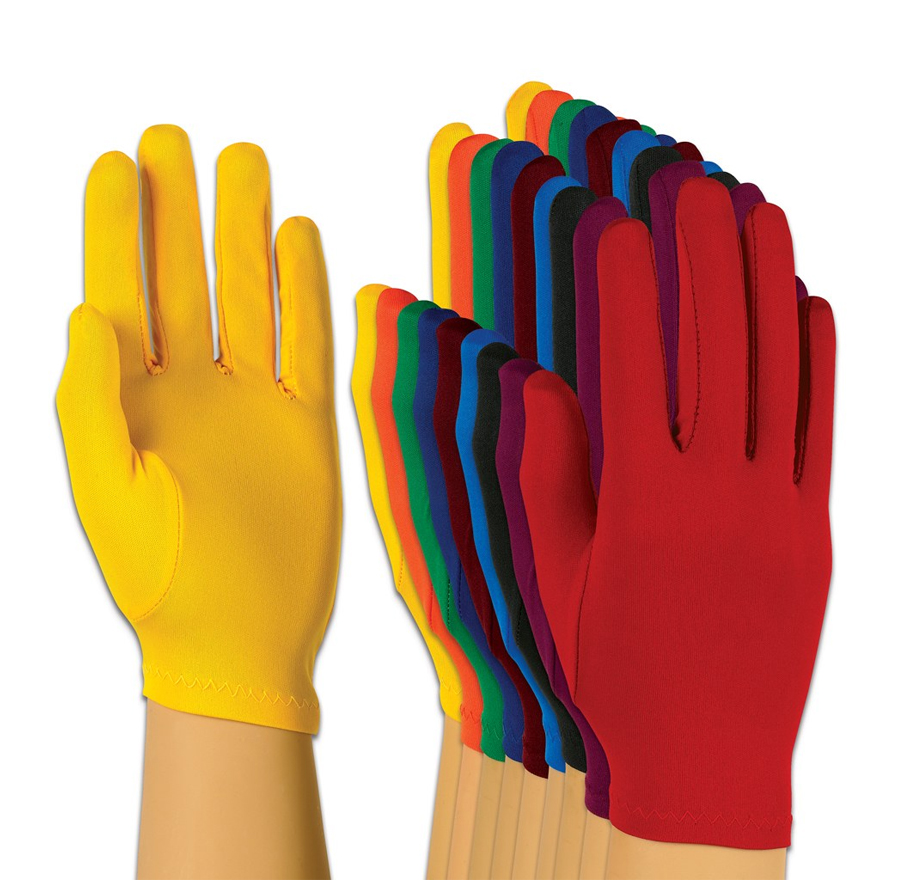 Solid-Colored Flash Gloves