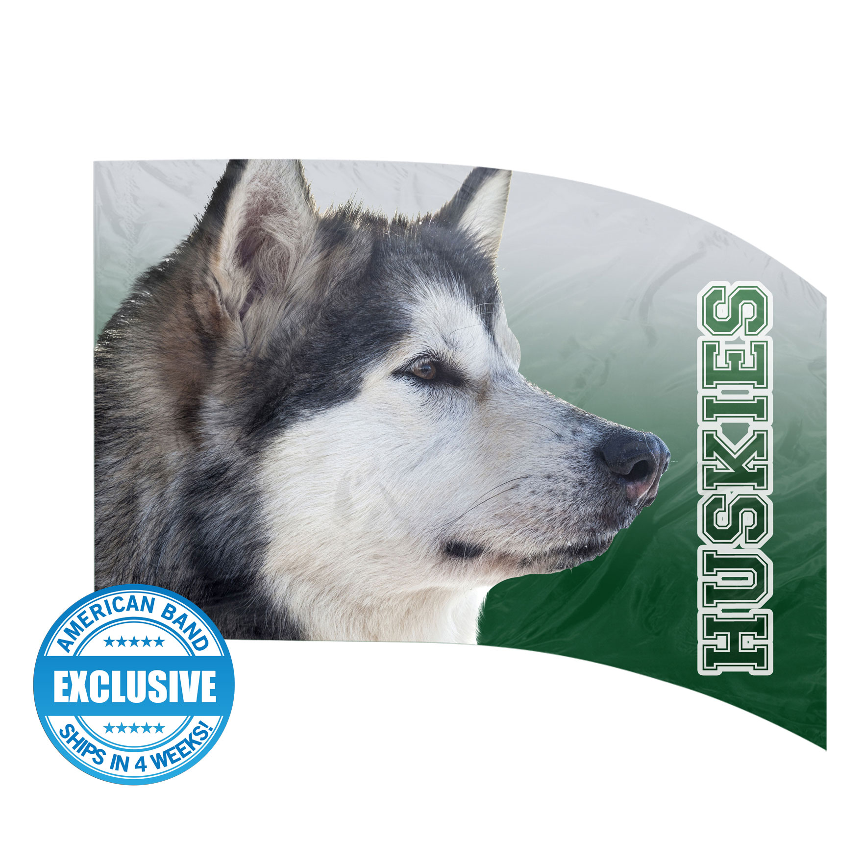 Made-to-Order Digital Mascot Flags - Husky