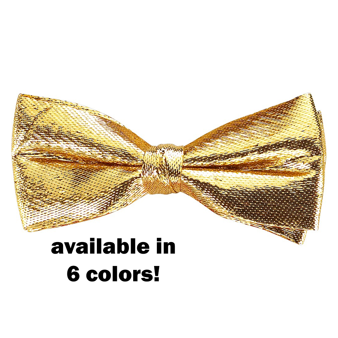 Metallic Banded Bow-Tie