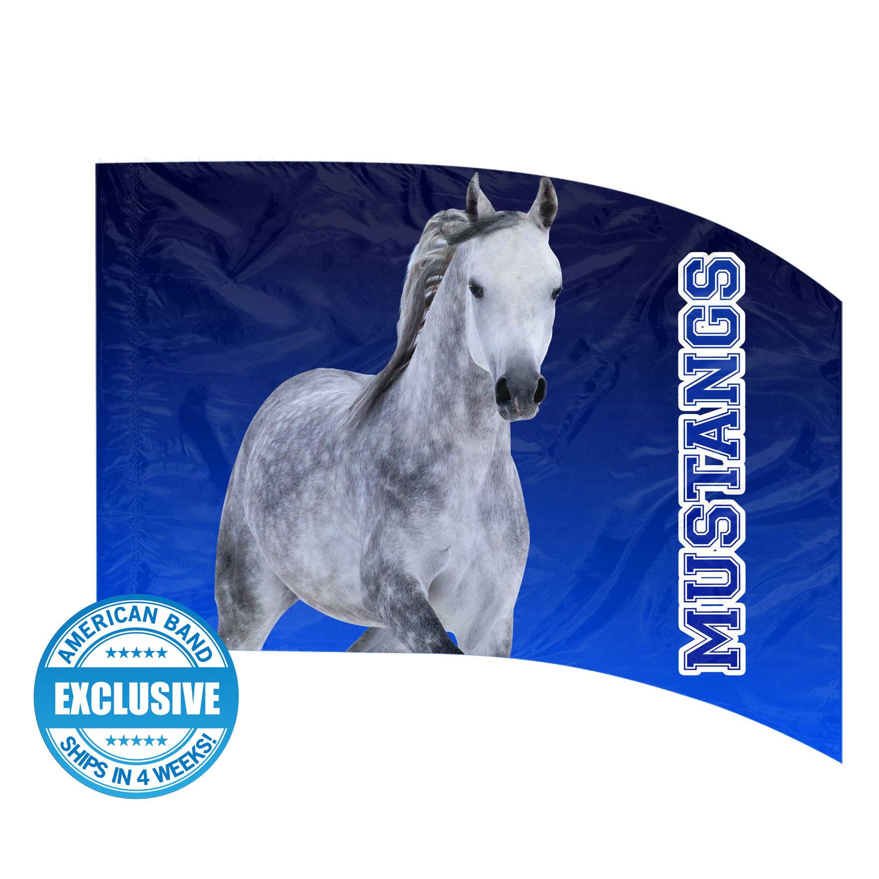 Made-to-Order Digital Mascot Flags - Mustang