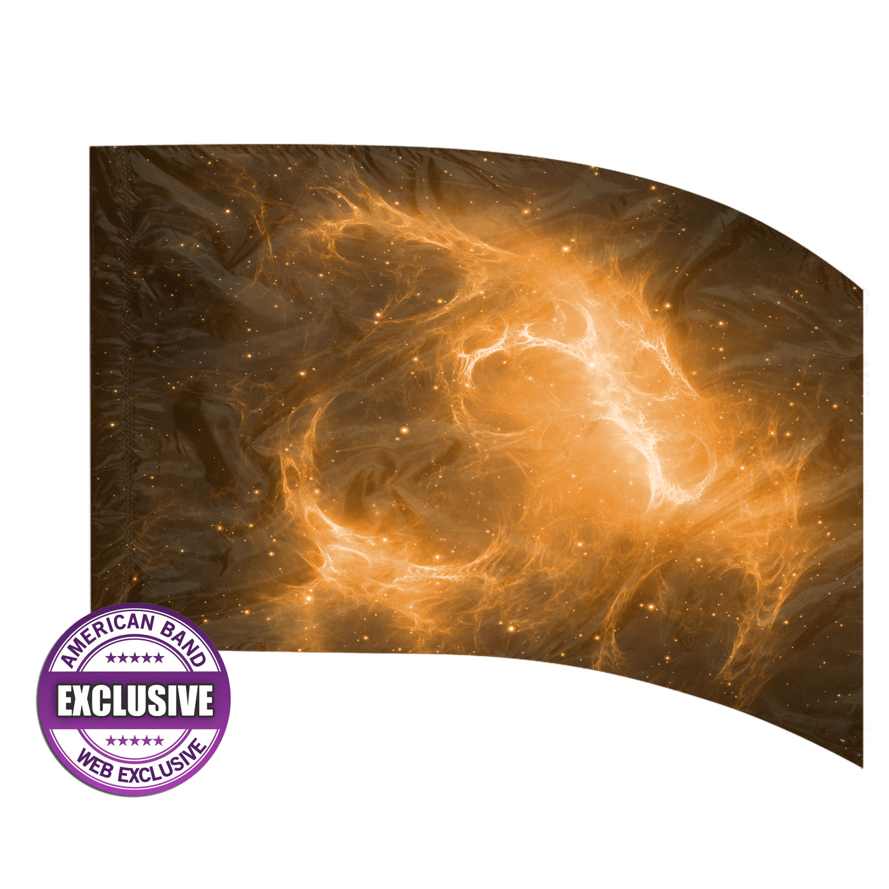 Made-to-Order Digital Cosmos Flags: Style 4 (Orange)