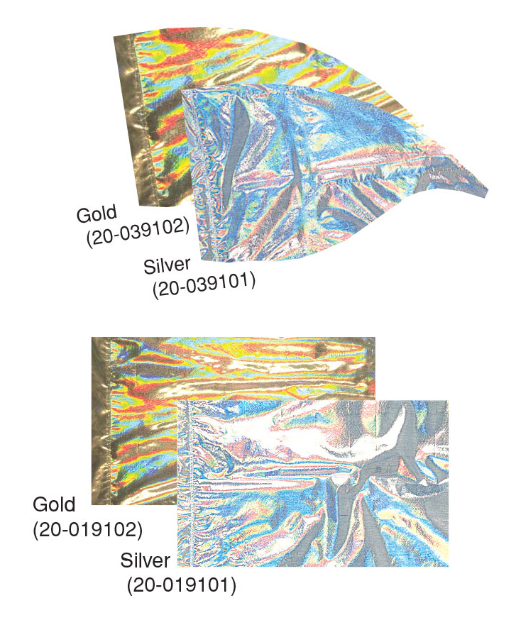Electric Holographic Lamé Flags